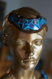 buste en mosaïque « la femme en bleu »