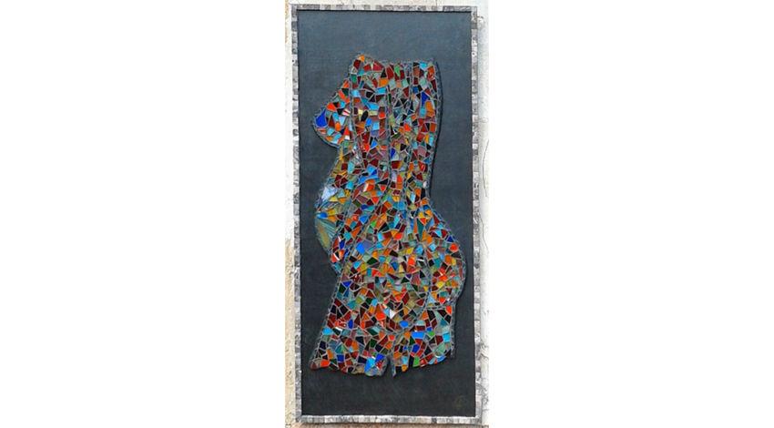 Femme enceinte mosaïque 50x110